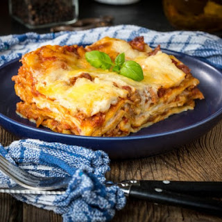 Simple Lasagna With Hearty Tomato-Meat Sauce.