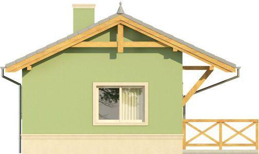 Domek 1 - Elewacja lewa