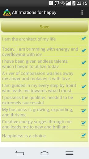 Happy affirmations