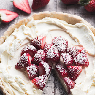 Strawberries and Cream Tart.