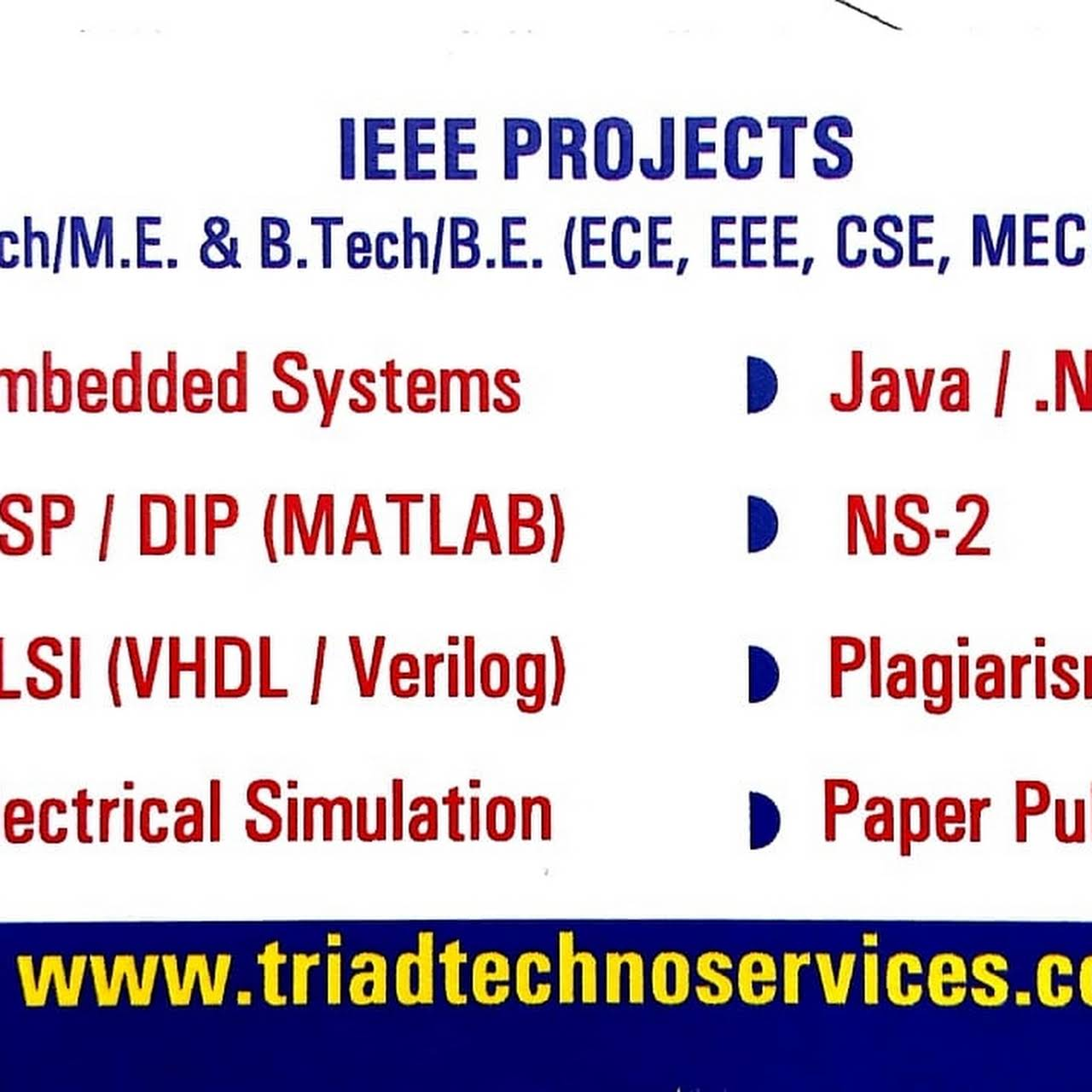 TRIAD TECHNO SERVICES - Research And Product Development in