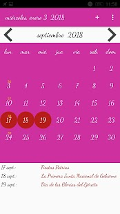 Calendario Chile - náhled