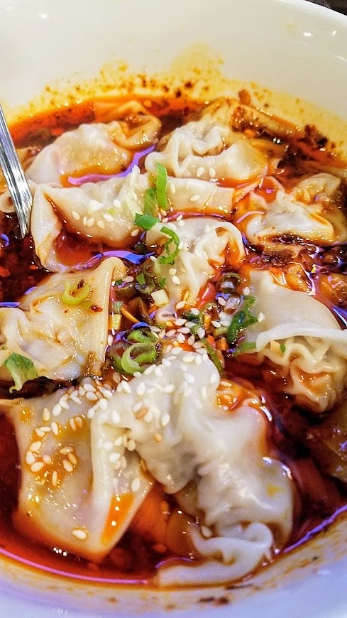 Duck House Chinese Restaurant in Portland szechuan wontons with chili oil