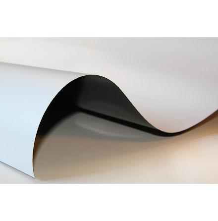 Magnetfolie med vit PVC