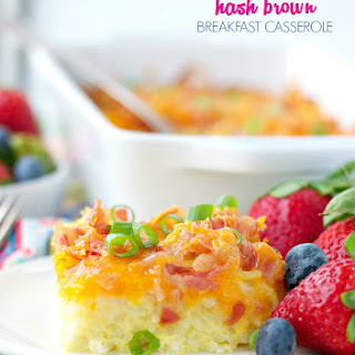 Bacon and Cheese Hash Brown Breakfast Casserole