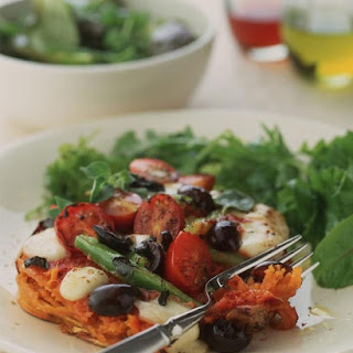 Tomato and Mozzarella Sweet Potatoes