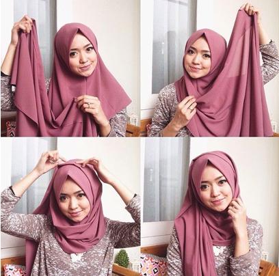 tutorial hijab modern 2017 screenshot