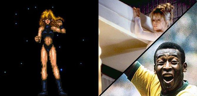 Samus Aran (Metroid) - Pelé e Kim Basinger