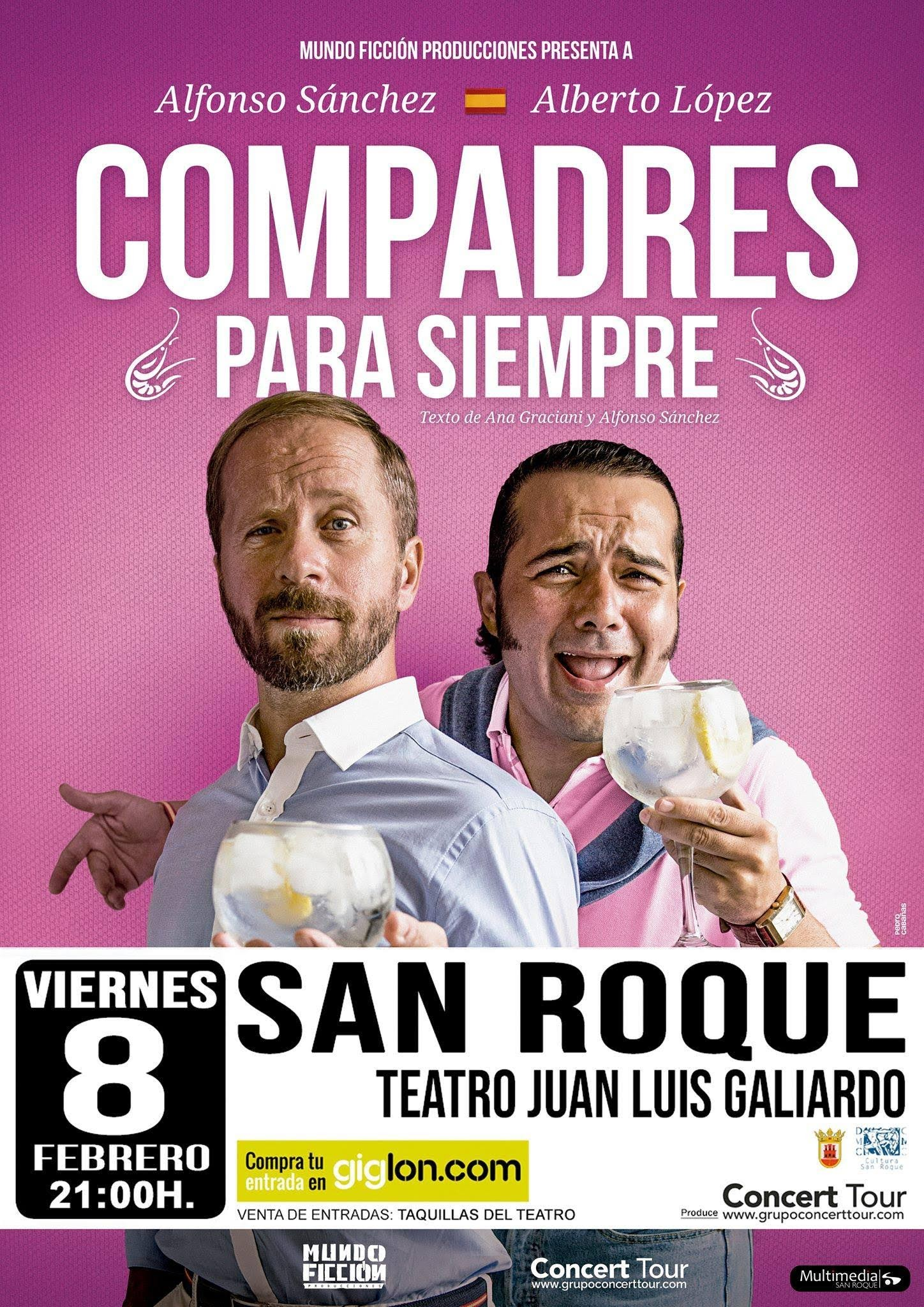 """Viernes de comedia en el Teatro Juan Luis Galiardo con la actuación de """"Los Compadres"""""""