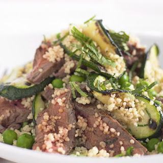 Grilled Lamb and Zucchini Salad.