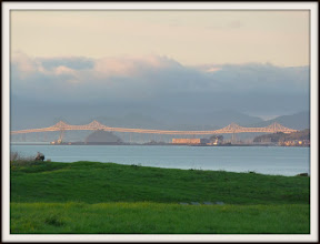 Photo: Richmond San-Rafael Bridge; Cesar Chavez Park green in foreground