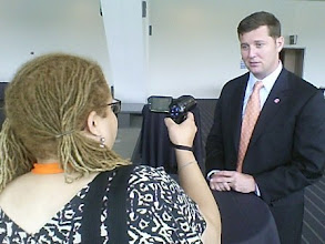 Photo: Interviewing Rep. Patrick Murphy at NN Chicago.