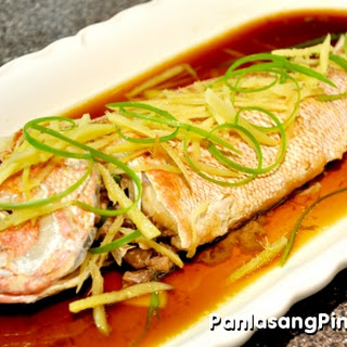 Steamed Fish with Scallions and Ginger.