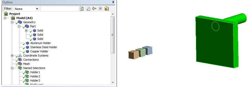 Могу ли я параметризовать назначение материала в ANSYS Mechanical?