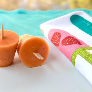 Peach Cardamom Summertime Pops