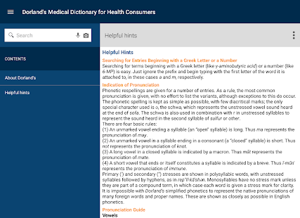 Dorland's Medical Dictionary- screenshot thumbnail