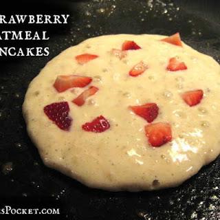 Strawberry Oatmeal Pancakes