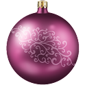 X-mas violet kakao talk theme icon