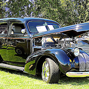 '37 Silver Streak Street Rod by Becky Luschei - Transportation Automobiles ( '37 silver streak street rod, '30's classic, shown, pristine conditon, race, car shows )