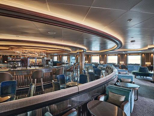 The bar counter of La Dolce Vita aboard Silver Moon.