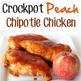 Crockpot Peach Chipotle Chicken