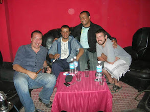 Photo: Our Head of the teachers (Sameer) With Elisio(Italian) , Abderahman and Timothy(American) (from left to right)