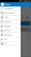 Screenshot of ZVV Timetable