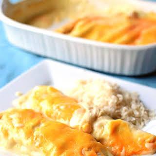 White Chicken Enchiladas.