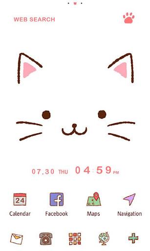 かわいい壁紙・アイコン-猫ちゃんのフェイス-無料きせかえ