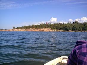 Photo: Målet i sikte, ön Yttergrund med fyren.