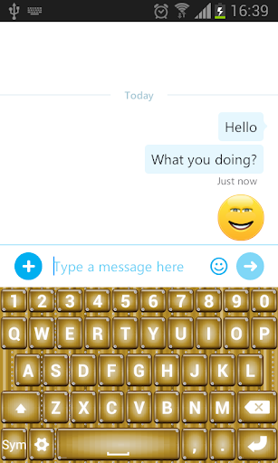 Luxury Gold SMS Keyboard
