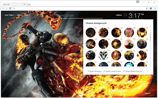 Ghost Rider Wallpaper HD New Tab Themes