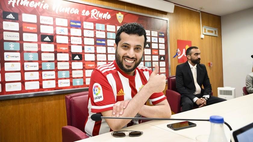 Turki Al-Sheikh, durante una rueda de prensa en Almería.