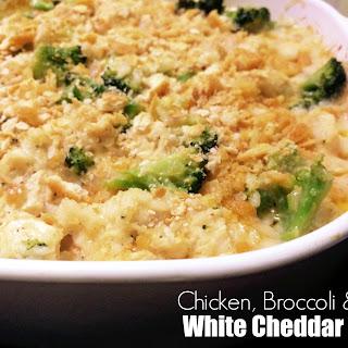 White Cheddar Chicken, Broccoli & Rice Bake.