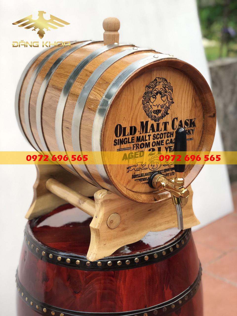 Rượu ngâm trong bom gỗ sồi giúp tăng cường sức khỏe