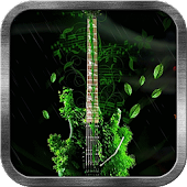 Green Guitar Live Wallpaper