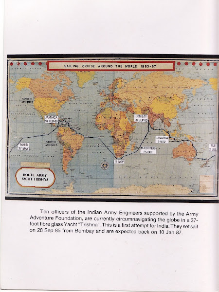 Photo: Reception - The expedition highlights on the COAS New Year's Greeting Card for 1987