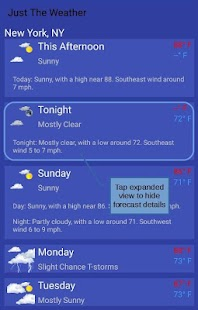 Just The Weather for PC-Windows 7,8,10 and Mac apk screenshot 4