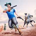 Western Cowboy Gun Fighter Gang Shooting Game 3D icon