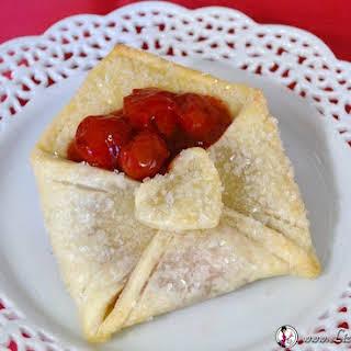 Cherry Pie Pastry Envelope.