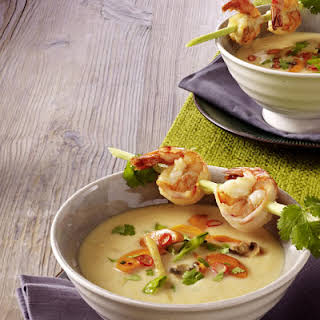 Thai Green Curry with Shrimp.
