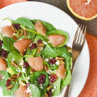 Spinach and Grapefruit Salad with Grapefruit Vinaigrette Recipe