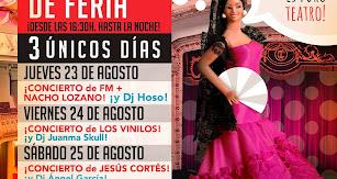 Música en directo con FM, Nacho Lozano, Los Vinilos, Jesús Cortés, Dj Hoso, Dj Juanma Skull y Dj Ángel García.