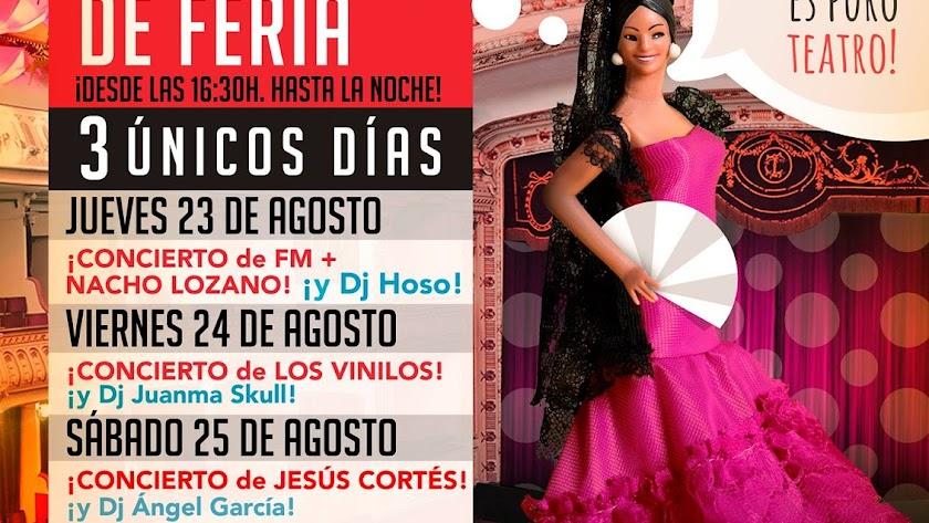 Porque la Feria es puro teatro, este año las tardes se viven en el Cervantes