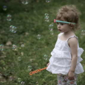 So many bubbles by Peggy Clark - Babies & Children Children Candids ( family, granddaughter, bubbles,  )