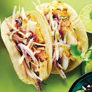 Grilled Fish Tacos with Jalapeño Slaw.