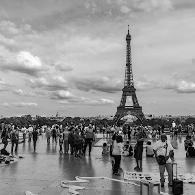 Paris by Dilip Ghosh - City,  Street & Park  Historic Districts ( eiffel tower )