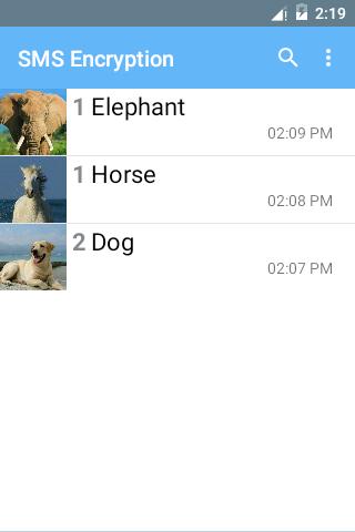 SMS Encryption (Free) screenshot 1