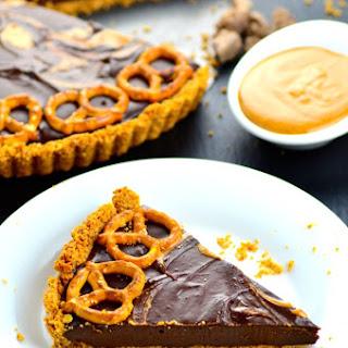 Chocolate Peanut Butter & Pretzel Tart Recipe