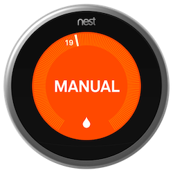 Nest thermostat sapphire-manual message